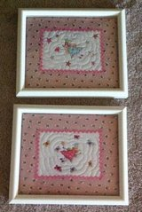2 Princess pictures with white wood frame in Fort Campbell, Kentucky