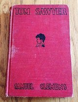 The Adventures of Tom Sawyer by Samuel Clemens Red Cover w/likeness of Clemens in Naperville, Illinois