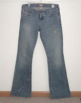 Hollister Distressed Stonewash Flare Jeans Womens 7L 7 x 35 Long Juniors in Yorkville, Illinois