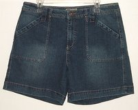 Faded Glory stretch blue denim jean shorts womens size 14 w 36 x 7 in Morris, Illinois