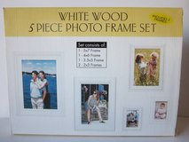 White Wood 5 Piece Photo Frame Set in Palatine, Illinois