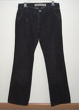 Gap original black low rise boot cut jeans womens sz 8 snap flap pockets 30 x 31 in Joliet, Illinois