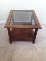 One Drawer Glass-top Solidwood Side/End Table in Joliet, Illinois