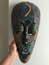 Tribal Wall Mask Decor from House of Blues in Beaufort, South Carolina