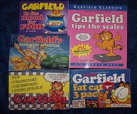 5 garfield #8,mood for food,halloween adventure,unabridged,fatcat 10,11,12 bonus in Alamogordo, New Mexico