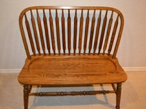 Solid Oak Windsor Bench by Robinson Furniture in Bartlett, Illinois