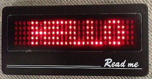 programmable scrolling red led 6 message display name badge tag in Yucca Valley, California