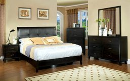 PLATFORM BED WITH 2 NIGHT STANDS DRESSER AND MIRROR FREE DELIVERY in Huntington Beach, California