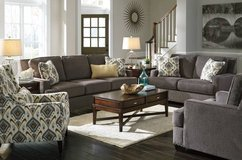 *** BRAND NEW *** ASHLEY GREY GRAY LINEN NAIL HEAD SOFA AND LOVE *** in Fort Campbell, Kentucky