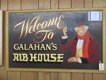Galahan's Rib House Vintage Restaurant Sign in Cherry Point, North Carolina