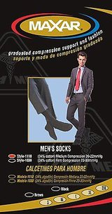 NEW maxar men trouser support socks 18-20 mmhg brown small 2 count sealed nib in Kingwood, Texas
