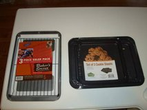 Set of 3 COOKIE SHEETS & 3 Piece Value Pack Non-Stick Brand NEW!! in Brookfield, Wisconsin