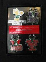 NBA MILWAUKEE BUCKS Basketball Logo Promo PIN Set - New in Box in Brookfield, Wisconsin