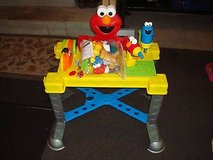 rare find sesame street sing n' giggle tool bench w/ lots of accessories clean!! in Brookfield, Wisconsin