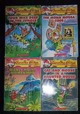 4 geronimo stilton books mighty mount kilimanjaro four mice deep in the jungle + in Alamogordo, New Mexico