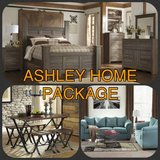 ** BRAND NEW ** ASHLEY HOME PACKAGE * QUEEN BED SECTIONAL DINING SET * in Fort Campbell, Kentucky