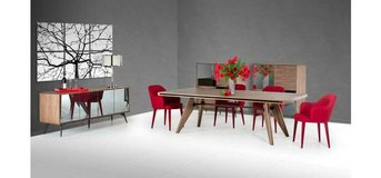 Bel Aire Walnut Dining Table Set in San Clemente, California