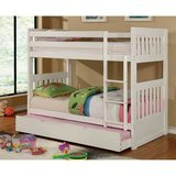 ***Victoria's White Twin/Twin or Twin/Full Bunk Bed Bedroom Collection in San Clemente, California