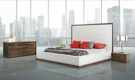 ***Capistrano's White and Walnut Bedroom Collection*** in San Clemente, California