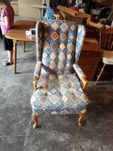 Antique Blue Chair/needs re-done in Fort Leonard Wood, Missouri
