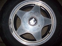 87-93 Ford Mustang rims ONLY TIRES NO FOR SALE in Orland Park, Illinois