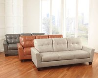 Contemporary Leather Sofa and Loveseat in Fairfax, Virginia