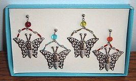 NEW Pier 1 Imports silver butterfly metal decorative beaded candle jewelry in Morris, Illinois