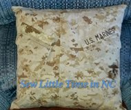 USMC MARPAT Desert Camouflage Uniform Pillow in Cherry Point, North Carolina