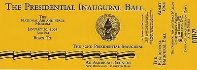REDUCED!!! 1993 presidential inaugural ball tickets in Fort Belvoir, Virginia