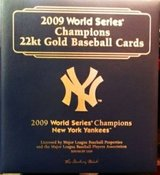 22kt Gold 2009 Yankees Baseball Cards in binder 40 card Ct in Camp Pendleton, California