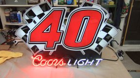 Vintage Coors NASCAR # 40 Neon Sign in Cherry Point, North Carolina