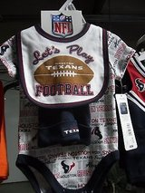 NFL Houston Texans Baby Infant 3 Piece Creeper W/Hat Size 0-6 M Football 4032 in Huntington Beach, California