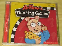 New Scholastic Arthurs Thinking Games PC CD-Rom 3-7 Reading Math Logic SEALED! in Morris, Illinois