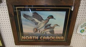Vintage North Carolina 1988 Duck Stamp Print in Cherry Point, North Carolina