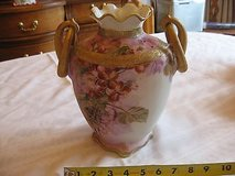 antique nippon morimura brothers vase 19th century nippon hand painted pink, lav in Perry, Georgia