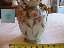 antique nippon morimura brothers vase 19th century nippon hand painted floral bo in Perry, Georgia