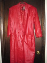 COAT, RED LEATHER in Virginia Beach, Virginia