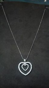 "1.5Ctw diamond 18kt gold double heart pendant on 22"" 14kt gold bead ch in Camp Pendleton, California"