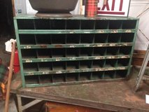 Teal Green pigeon hole metal cubby in Sandwich, Illinois