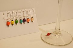 Handmade Skull Wine Glass Charms / Drink Markers in Fort Bragg, North Carolina