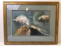 BARUJ SALINAS Original Abstract Painting - Framed - Signed! in Tomball, Texas