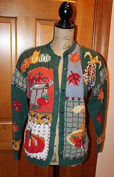 Hand Knitted Fall Cardigan, Signatures-Northern Isles, Ramie/Cotton, M in Aurora, Illinois