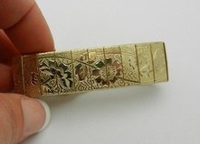 "Vintage Sarah Coventry Embossed Etched Floral Estate Gold Plated Bracelet 7"" in Bolingbrook, Illinois"