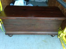 1780's Pine Immigrant Chest Lift Top Lid in Cherry Point, North Carolina
