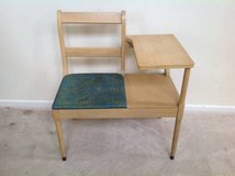 Maple and Green Upholstered Gossip Chair in Plainfield, Illinois