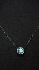 14kt white gold 75 point diamond bezel necklace in Camp Pendleton, California