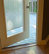 DOOR WITH BLINDS BETWEEN GLASS, ENCLOSED BLINDS, NO DUSTing! WHITE COLOR in Camp Lejeune, North Carolina