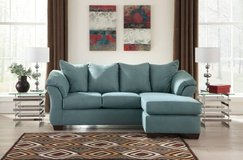 ** BRAND NEW ** ASHLEY SKY BLUE SOFA CHAISE SECTIONAL *** in Fort Campbell, Kentucky