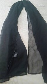 Black shawl/scarf with beaded edges in Camp Pendleton, California