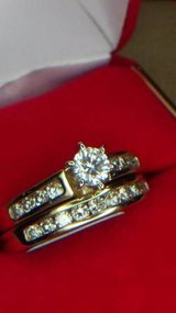 Yellow gold and diamond wedding ring set in Oceanside, California